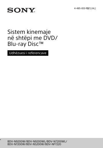Sony BDV-N7200W - BDV-N7200W Guida di riferimento Albanese