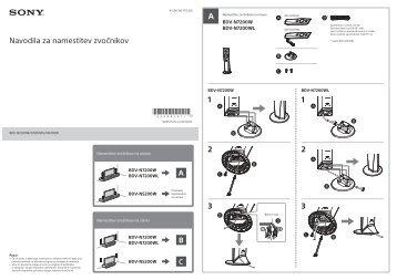 Sony BDV-N7200W - BDV-N7200W Guida all'installazione dei diffusori Sloveno