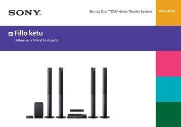 Sony BDV-N990W - BDV-N990W Guida di configurazione rapid Albanese