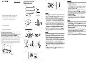 Sony BDV-N990W - BDV-N990W Guida di installazione Tedesco