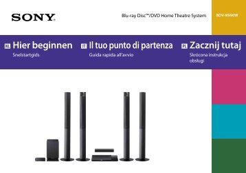 Sony BDV-N990W - BDV-N990W Guida di configurazione rapid Italiano