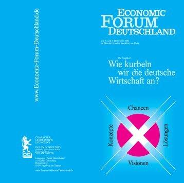Wie kurbeln wir die deutsche Wirtschaft an? - Economic Forum ...