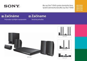 Sony BDV-E490 - BDV-E490 Guida di configurazione rapid Ceco