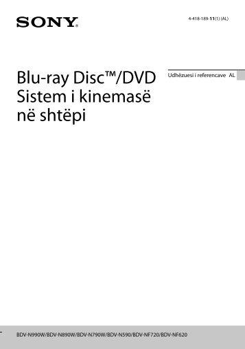 Sony BDV-N890W - BDV-N890W Guida di riferimento Albanese