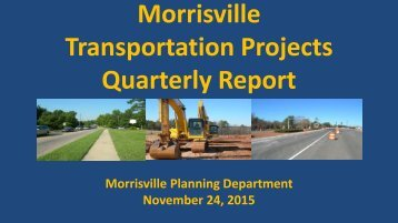 Morrisville Transportation Projects Quarterly Report