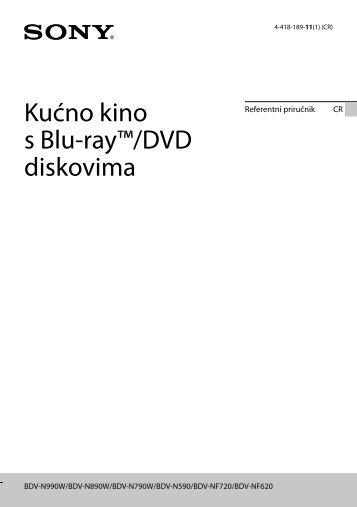 Sony BDV-N890W - BDV-N890W Guida di riferimento Croato