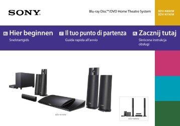 Sony BDV-N890W - BDV-N890W Guida di configurazione rapid Polacco