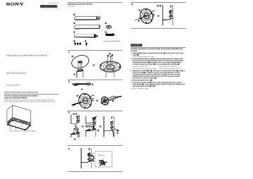 Sony BDV-N890W - BDV-N890W Guida all'installazione dei diffusori Sloveno