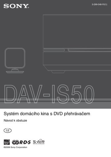Sony DAV-IS50 - DAV-IS50 Istruzioni per l'uso Ceco
