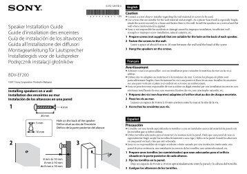 Sony BDV-EF200 - BDV-EF200 Guida di installazione Francese