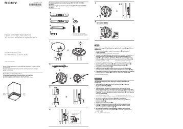 Sony BDV-N9100W - BDV-N9100W Guida all'installazione dei diffusori Ceco
