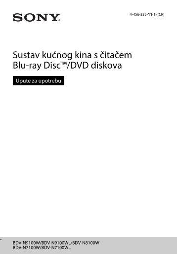 Sony BDV-N9100W - BDV-N9100W Istruzioni per l'uso Croato