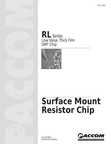 Surface Mount Resistor Chip