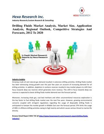 Drilling Fluids Market Analysis, Market Size, Application Analysis, Regional Outlook, Competitive Strategies And Forecasts, 2012 To 2020