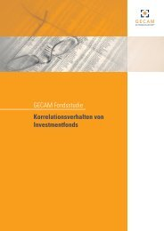 GECAM Fondsstudie Korrelationsverhalten von Investmentfonds