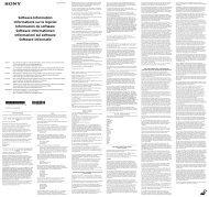 Sony KDL-40R455B - KDL-40R455B Manuale software Inglese