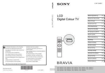 Sony KDL-32EX600 - KDL-32EX600 Istruzioni per l'uso Portoghese