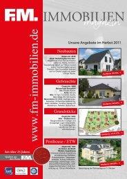 Schlüsselfertige Häuser von 119.000,- bis 149.000 - FM Immobilien
