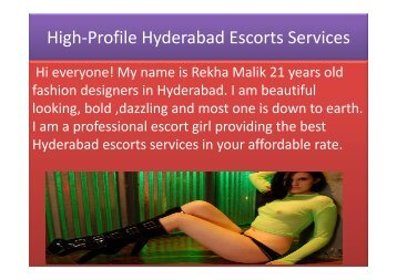 Hyderabad escorts services by Rekha Malik