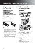 Sony KDL-46W3000 - KDL-46W3000 Istruzioni per l'uso Polacco - Page 4
