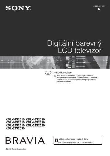 Sony KDL-40S2510 - KDL-40S2510 Istruzioni per l'uso Ceco
