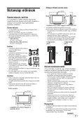 Sony KDL-26U2520 - KDL-26U2520 Istruzioni per l'uso Ungherese - Page 7