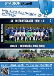 SV Unterweissach - TSV Schwaikheim