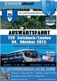 SV Unterweissach - SC Korb