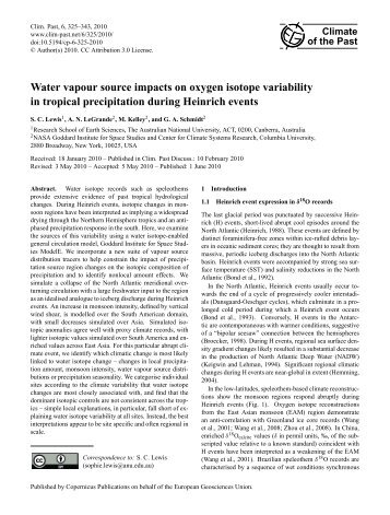 Water vapour source impacts on oxygen isotope variability in ...