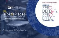 INDIZEN 2016 - National Convention on Operational Excellence