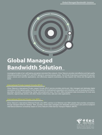Global Managed Bandwidth Solution