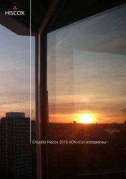 Enquête Hiscox 2015 ADN d'un entrepreneur
