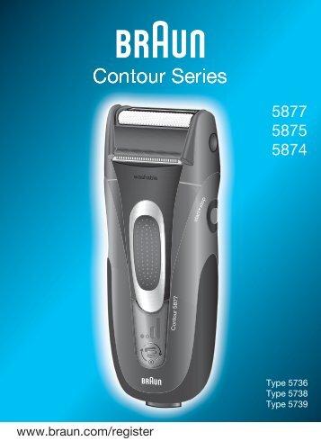 Braun Series 3, Contour, Contour Sportive, Contour Classic-380, 5877, 5887, 5888 - 5877, 5875, 5874, Contour Series UK, FR, PL, CZ, SK, HU, HR, SL, TR, RU, UA, ARAB