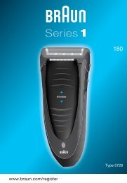 Braun Series 1, FreeControl-180, 1735 - 180, Series 1 DE, UK, FR, ES, PT, IT, NL, DK, NO, SE, FI, TR, GR