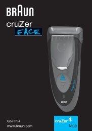 Braun CruZer2, CruZer3, CruZer4 Face, CruZer5 Face-Z40, Z50, 2778, 2878 - CruZer4, face DE, UK, AUS, F, PT, IT, NL, DK, NO, SE, FI, TR, GR