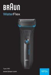 Braun WaterFlex-WF2s - WF2s, Water Flex DE, UK, FR, ES, PT, IT, NL, DK, NO, SE, FI, TR, GR