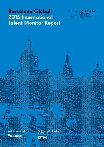 Barcelona Global 2015 International Talent Monitor Report
