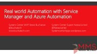 Manager and Azure Automation