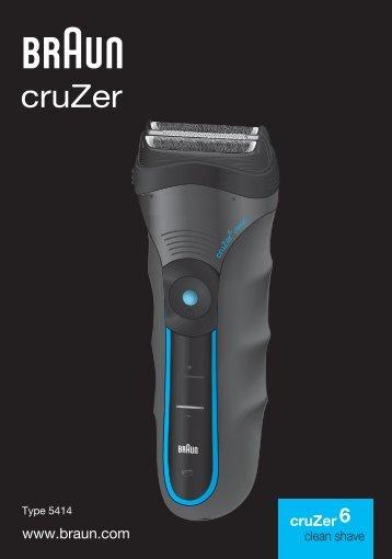 Braun Series 3 wet&dry, CruZer6 Clean shave, Old Spice-340s-4, 345s-4, 340s-5, 345s-5, 3010 - cruZer6 clean shave UK, FR, PL, CZ, SK, HU, HR, SL, TR, RO, MD, BG, RU, UA, ARAB