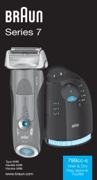Braun Series 7-790cc-6, 790cc-7, 799cc-6, 797cc-7, 799cc-7 - 799cc-6 Wet & Dry, Series 7 UK, FR, ES (USA, CDN, MEX)