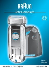 Braun Series 5, 360° Complete-550, 8975, 8990, 8991 - 8990, 8985, 360°Complete DE, UK, FR, ES, PT, IT, NL, DK, NO, SE, FI, TR, GR
