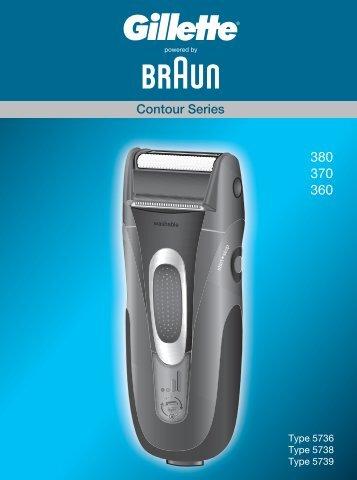 Braun Series 3, Contour-350, 360, 5873, 5874 - 380, 370, 360, Contour Series CHIN, UK