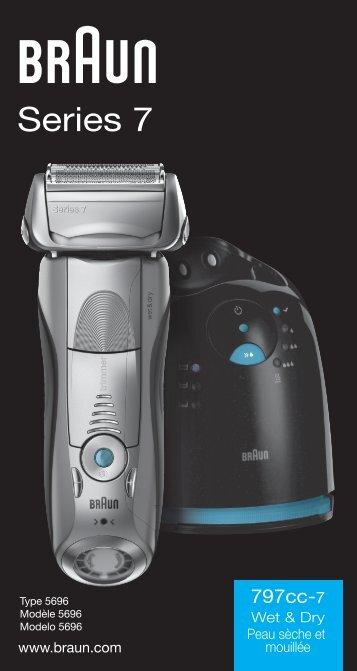 Braun Series 7-790cc-6, 790cc-7, 799cc-6, 797cc-7, 799cc-7 - 797cc-7 Wet & Dry, Series 7 UK, FR, ES (USA, CDN, MEX)