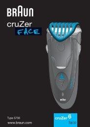 Braun CruZer4, CruZer6 Face-Z60, 2838, Old Spice - CruZer6, face RO