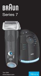 Braun Series 7, Pulsonic Pro-System Plus-760cc, 760cc-3, 765cc, 765cc-3, 760cc-4, 760cc-5, 760cc-6, 760cc-7, 765cc-4, 765cc-5, 765cc-6, 765cc-7 - 760cc-4, Series 7 DE, UK, FR, ES, PT, IT, NL, DK, NO, SE, FI, TR, GR