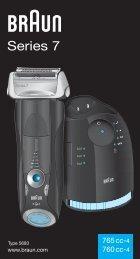 Braun Series 7, Pulsonic Pro-System Plus-760cc, 760cc-3, 765cc, 765cc-3, 760cc-4, 760cc-5, 760cc-6, 760cc-7, 765cc-4, 765cc-5, 765cc-6, 765cc-7 - 765cc-4, 760cc-4, Series 7 KOR, UK