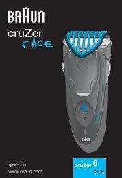Braun CruZer4, CruZer6 Face-Z60, 2838, Old Spice - CruZer6, face UK, FR, PL, CZ, SK, HU, HR, SL, TR, RO, MD, BG, RU, UA, ARAB