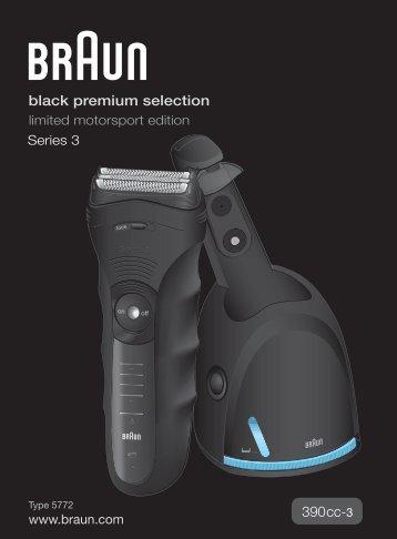 Braun Series 3-390cc, 395cc-3 - 390cc-3, Series 3, black premium selection DE, UK, FR, ES, PT, IT, NL, DK, NO, SE, FI, TR, GR