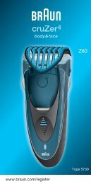 Braun CruZer4, CruZer6 Face-Z60, 2838, Old Spice - Z60, Cruzer4, body&face DE, UK, FR, ES, PT, IT, NL, DK, NO, SE, FI, TR, GR