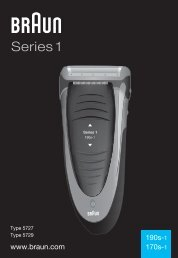 Braun Series 1, FreeControl-180 (for RU only),190, 190s-1, 1775 - 190s-1, 170s-1, Series 1 UK, FR, PL, CZ, SK, HU, HR, SL, TR, RO, MD, BG, RU, UA, ARAB